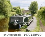 A Large Wide Bodied Canal Boat...