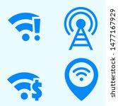 wifi and signal icon design...