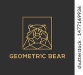 bear logo design with geometric ...   Shutterstock .eps vector #1477169936