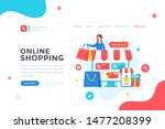 online shopping. e commerce ... | Shutterstock .eps vector #1477208399