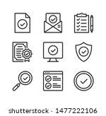 check mark line icons.... | Shutterstock .eps vector #1477222106