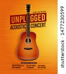 unpluged acoustic guitar...   Shutterstock .eps vector #1477230599