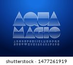 vector glossy logo aqua magic... | Shutterstock .eps vector #1477261919