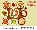 chinese and asian cuisine meal... | Shutterstock .eps vector #1477272299