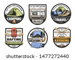 mountain camping  summer... | Shutterstock .eps vector #1477272440