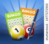 lottery balls and bingo tickets ... | Shutterstock .eps vector #1477272503