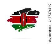 kenyan flag. vector... | Shutterstock .eps vector #1477276940