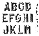 hand draw sketch alphabet design | Shutterstock .eps vector #147728564