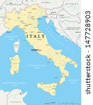 italy map   hand drawn map of... | Shutterstock .eps vector #147728903