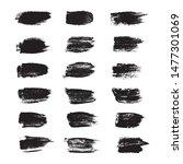 vector black pint ink brush... | Shutterstock .eps vector #1477301069