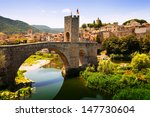 Medieval Bridge With Antique...