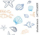 collection of sea shell ink...   Shutterstock .eps vector #1477316009