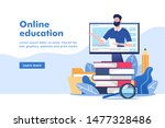 online education or business... | Shutterstock .eps vector #1477328486