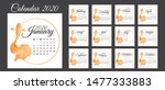 calendar 2020  a set of... | Shutterstock .eps vector #1477333883