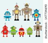 robots vector set  | Shutterstock .eps vector #147734690
