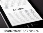 e reader on tablet pc touchpad  ... | Shutterstock . vector #147734876