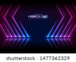 blue and ultraviolet neon laser ... | Shutterstock .eps vector #1477362329