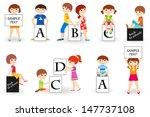 vector illustration of cute... | Shutterstock .eps vector #147737108