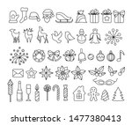 christmas decoration collection.... | Shutterstock .eps vector #1477380413