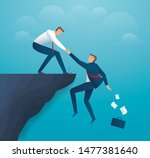 man holding partner hands...   Shutterstock .eps vector #1477381640