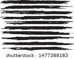 set of vector brush strokes.... | Shutterstock .eps vector #1477388183