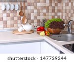 modern kitchen with cozy... | Shutterstock . vector #147739244