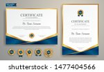 blue and gold certificate of... | Shutterstock .eps vector #1477404566