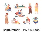 bundle of reading children or... | Shutterstock .eps vector #1477431506
