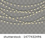 christmas lights isolated... | Shutterstock .eps vector #1477432496