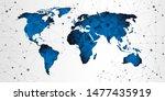 world map triangle geometric... | Shutterstock .eps vector #1477435919