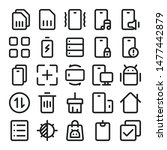 mobile ui icon line style for...