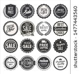 collection of retro vintage... | Shutterstock . vector #1477443560