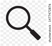 isolated  magnifying glass or...