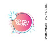 set of did you know. badge with ...   Shutterstock .eps vector #1477473503