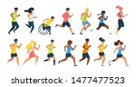 running people flat vector... | Shutterstock .eps vector #1477477523