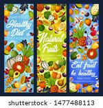 fruit detox diet vector banners ... | Shutterstock .eps vector #1477488113