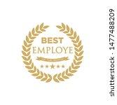 best employee of the month  ... | Shutterstock .eps vector #1477488209