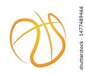 orange basketball symbol... | Shutterstock .eps vector #1477489466