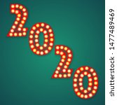 new 2020 year number witht... | Shutterstock .eps vector #1477489469