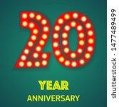 background with number twenty... | Shutterstock .eps vector #1477489499