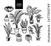 Set Of Handdrawn House Plants....
