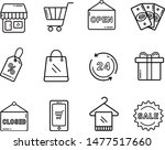 set of shopping vector icons.... | Shutterstock .eps vector #1477517660