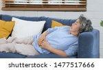 Elderly Take A Nap  Senior...