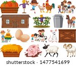 large set of isolated farm... | Shutterstock .eps vector #1477541699