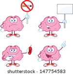 brain cartoon mascot collection ... | Shutterstock . vector #147754583