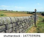 A Signpost On A Grass Path Nex...