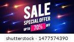 sale design template with comet ... | Shutterstock .eps vector #1477574390