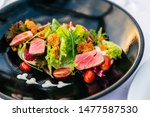 Close Up Medium Rare Tuna Salad ...