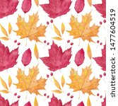 seamless pattern with... | Shutterstock . vector #1477604519