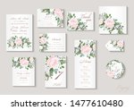 wedding invitation with flowers ... | Shutterstock .eps vector #1477610480
